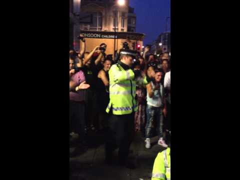 Police dance off