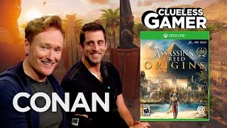 """Clueless Gamer: """"Assassin's Creed Origins"""" With Aaron Rodgers  - CONAN on TBS"""