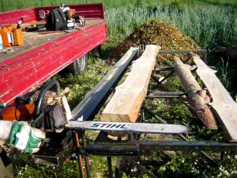 S 228 gewerk logosol eigenbau bigmill basic chainsaw mill with stihl
