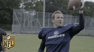Tottenham Soccer Star Harry Kane Shows Off His American Football Skills   Madden 16   NFL