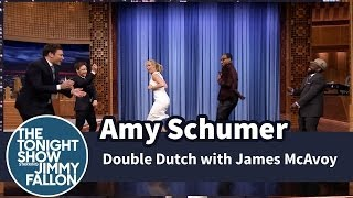 Amy Schumer Plays Double Dutch with Jimmy, James McAvoy and The Roots