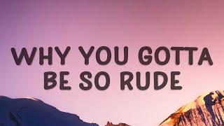 MAGIC - Rude (Lyrics)   Why you gotta be so rude