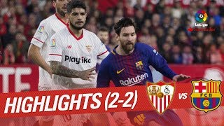 Resumen de Sevilla FC vs FC Barcelona (2-2)