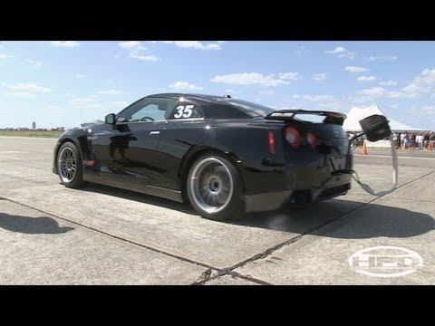 216mph AMS Nissan GTR - HARD LAUNCH - The Texas Mile