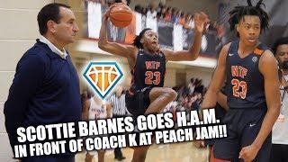 COACH K Watches Scottie Barnes GO CRAZY AT PEACH JAM!! | Full Highlights