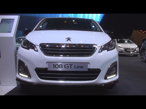 @Peugeot 108 GT Line 5P 1.2 PureTech 82 BVM5 (2017) Exterior and Interior in 3D