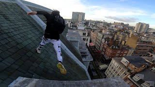 London Rooftop Parkour ESCAPE from Security!