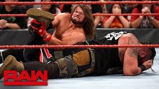 AJ Styles vs. Braun Strowman – United States Championship Match: Raw, Aug. 26, 2019