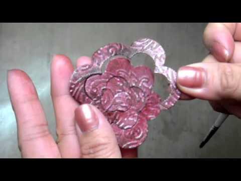 Mft Rolled Rose Grunge Paper Flower Tutorial Youtube