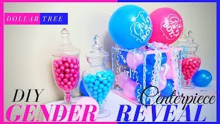 DIY GENDER REVEAL BOX | DIY GENDER REVEAL IDEAS | GENDER REVEAL BABY SHOWER CENTERPIECE