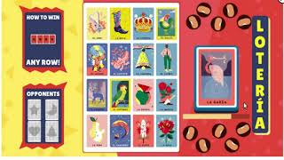 Lotería game Google Doodle - This Playable Doodle allows you playing with your Friends Online
