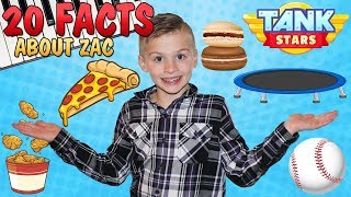 20 Facts About Me    Zac Family Fun Pack - YouTube