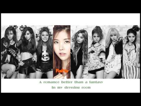 After School - Dressing Room (Eng Tran + Colored Lyric)