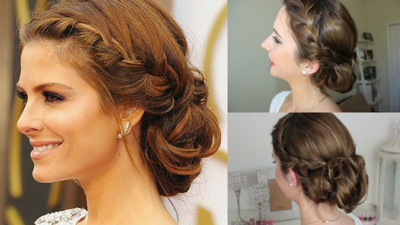 Quick & Easy Braided Messy Updo | Maria Menounos Oscars ...