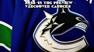 2018-19 Vancouver Canucks Season Preview