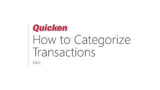 How to Categorize Transactions