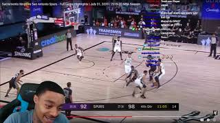 FlightReacts Sacramento Kings vs San Antonio Spurs - Full Game Highlights | July 31, 2020!