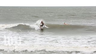 On this South Carolina beach, one last day of surfing as Hurricane Florence looms