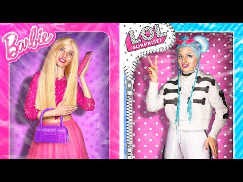 Barbie Girl vs LOL Surprise Girl / 24 Hours Challenge