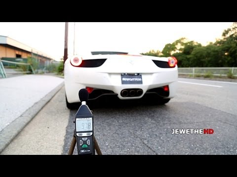 Ferrari 458 Spider w/ ARMYTRIX Valvetronic Exhaust HUGE Accelerations! LOUD Sounds!