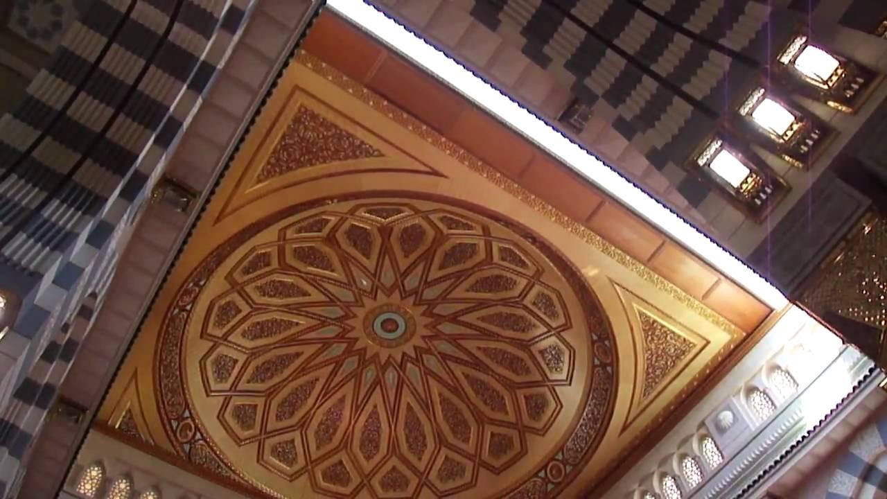 al Masjid al Nabawi Medina moving dome closing المسجد ...