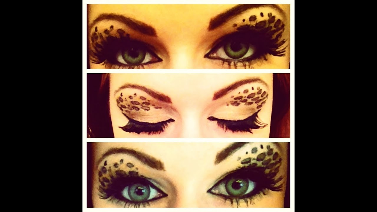 cheetah eye makeup tutorial