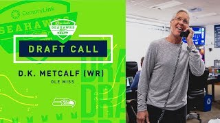John Schneider & Pete Carroll Call D.K. Metcalf | 2019 NFL Draft