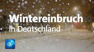 Schnee und Glatteis: Winterwetter sorgt für Verkehrsprobleme
