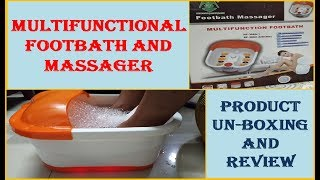 Multi-Functional Footbath, Spa or Massager | Pedicure Product Review [Hindi]