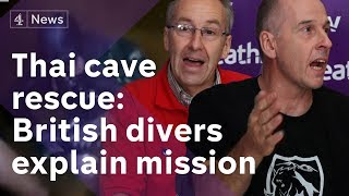 Thai cave rescue press conference: British divers explain how they helped save boys