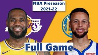 Los Angeles Lakers vs. Golden State Warriors Full Game Highlight | NBA Preseason 2021-22