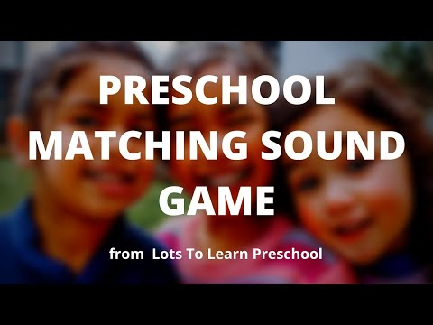 Preschool Matching Sound Game | Lots To Learn Children's DVDs