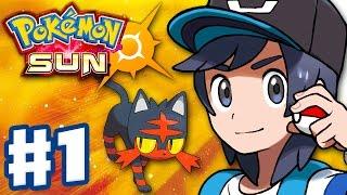 Pokemon Sun and Moon - Gameplay Walkthrough Part 1 - Alola Intro and Litten Starter! (Nintendo 3DS)