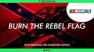 Nascar 15: Burn The Rebel Flag Trolling Reactions - Confederate Flag Trolling on Nascar 15