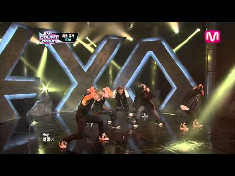 EXO_Inrto + 늑대와 미녀 (Intro + Wolf by EXO@Mcountdown 2013.5.30)