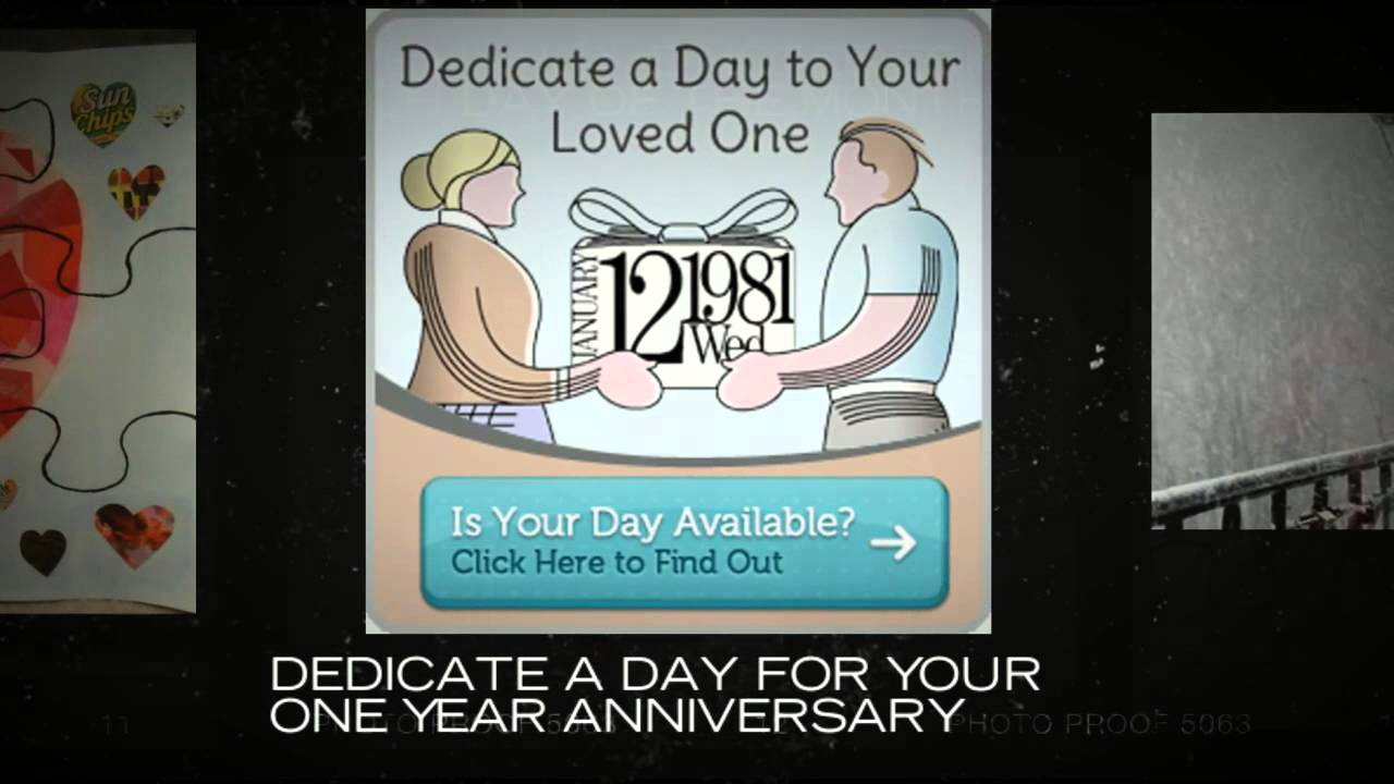 One Year Anniversary Gifts For Boyfriend Youtube