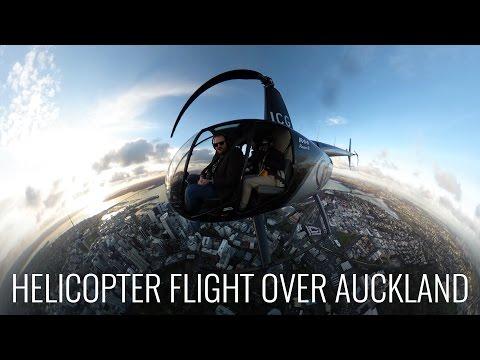Helicopter Over Auckland Before Steve Wozniak Talk
