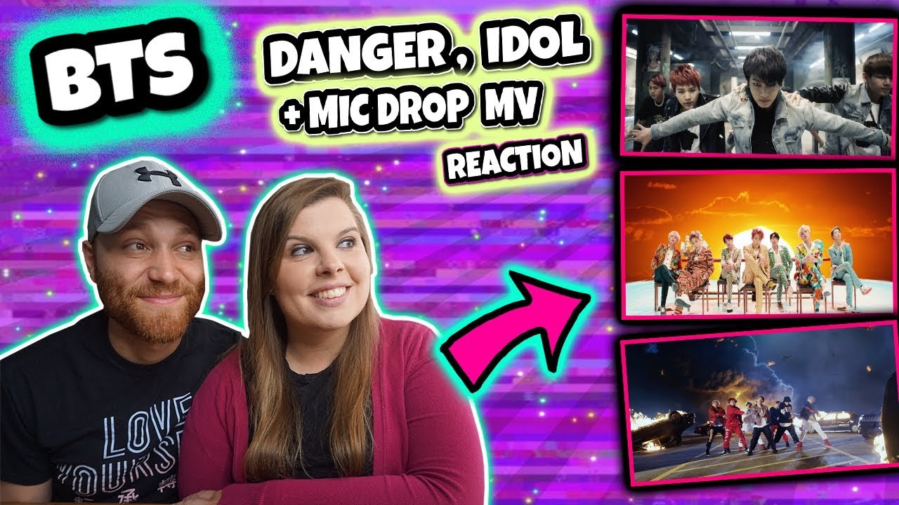 BTS (방탄소년단) DANGER, IDOL AND MIC DROP (Steve Aoki Remix) MV Music Video  REACTION
