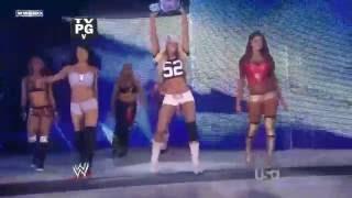 (720pHD): WWE Raw 07.18.11: Team Bella Twins vs Team Kelly Kelly