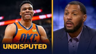 Eddie House reacts to Westbrook notching his third straight triple-double season | NBA | UNDISPUTED