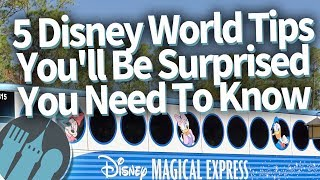 5 Disney World Tips You'll Be SURPRISED You Need To Know!