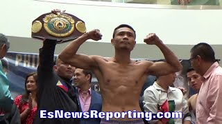 PINOY PRIDE 38 WEIGH INS: PHILIPPINES VS MEXICO - EsNews Boxing