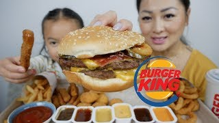 BURGER KING | Angry King Burger, Onion Ring, Cheesy Tots & CHICKEN Fries| N.E Let's Eat
