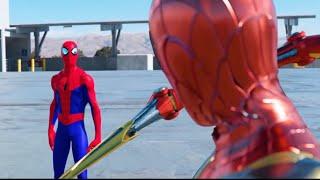 SPIDER-MAN BATTLE! (FULL FIGHT) | FFH vs. SPIDER-VERSE vs. IRON SPIDER vs. RAIMI & MORE!