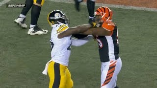 Vontaze Burfict Flops To Cause a Penalty On Le'veon Bell!