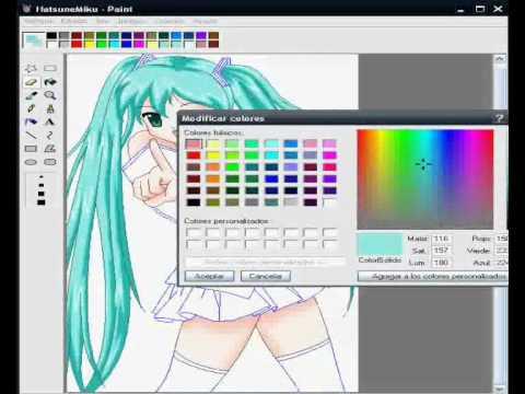 Dibujando a Hatsune Miku en Ms Paint