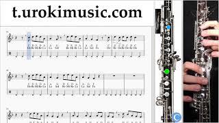 หัดเล่นโอโบ Marshmello ft. Bastille - Happier ตัวโน๊ต สอนเล่นโอโบ um-i796