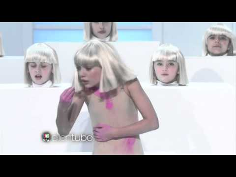 Sia performs 'Elastic Heart' live on The Ellen Show