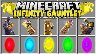 Minecraft INFINITY GAUNTLET MOD   CRAFT THE INFINITY GAUNTLET IN MINECRAFT!!