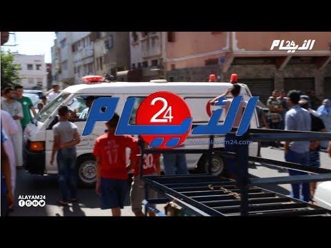 لحضة وصول جثمان ضحايا حادثة سير طريق سطات